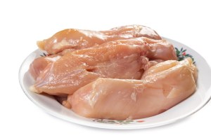 Raw Chicken White Meat prepared for frying